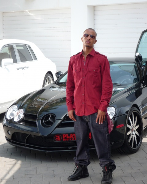 T.I. with his black SLR